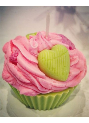 Bougie cupcake Fleur de lotus
