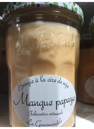 "Bougie Pot gourmand ""Mangue-papaye"""