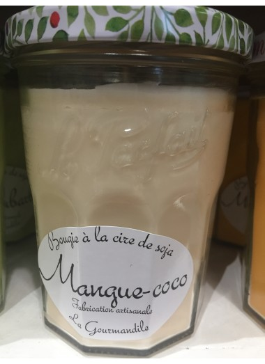 "Bougie Pot gourmand ""Mangue-coco"""