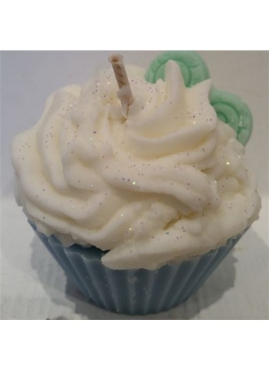 Bougie cupcake Fleur d'eau