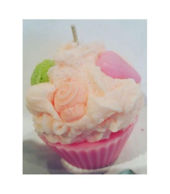 Bougie cupcake Litchi