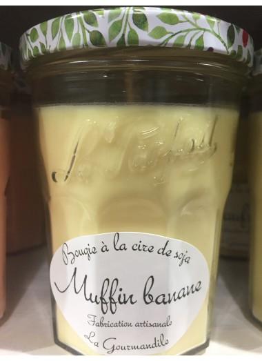 """Bougie Pot gourmand """"Muffin banane"""""""