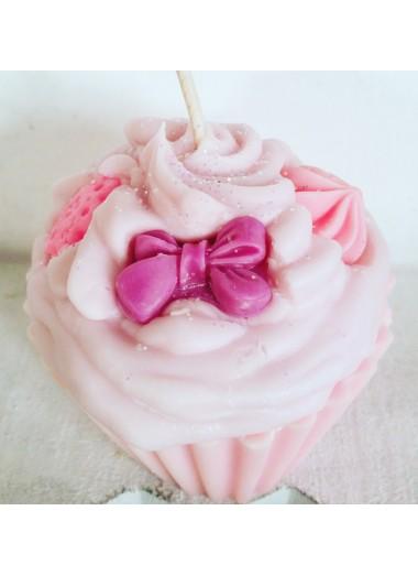 "Bougie cupcake ""pivoine"""
